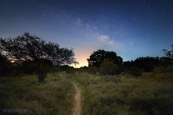 Milky way in purgatory park san marcos tx