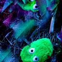 Frog in trellis