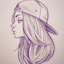 Drawing of girl in hat?1537584466