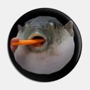 Catfish eating Eggplant